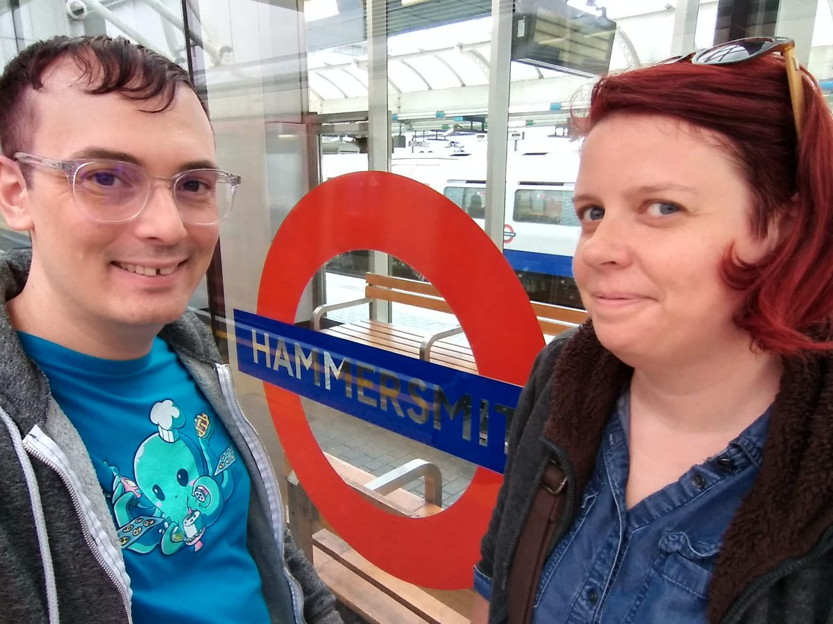 Toria and I at Hammersmith Station